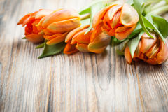 Boeket van oranje tulpen stock fotografie
