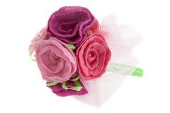 Boeket van rode en roze rozen Stock Foto's