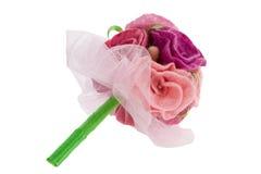 Boeket van rode en roze rozen Stock Afbeeldingen