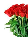 Boeket van rode rozen stock afbeeldingen