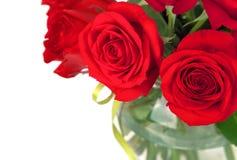 Boeket van rode rozen Royalty-vrije Stock Afbeeldingen