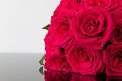 Boeket van rode rozen Stock Foto's
