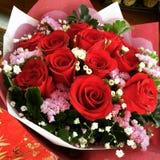 Boeket van rode rozen Royalty-vrije Stock Foto