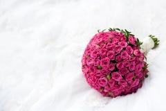 Boeket van roze rozen Stock Afbeelding
