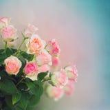 Boeket van roze rozen Stock Afbeeldingen