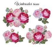 Boeket van rozen Geplaatste bloemen Stock Afbeelding