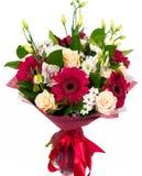 Boeket van rozen, gerberas en orchideeën Royalty-vrije Stock Afbeelding