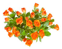 Boeket van rozen op witte achtergrond worden geïsoleerd die. Royalty-vrije Stock Afbeelding