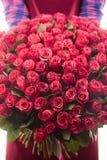 Boeket van rozen 101 stuk Stock Afbeelding