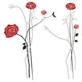 Boeket van rozen, vectorillustratiereeks vector illustratie