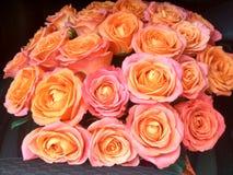 Boeket van rozen voor geliefd Stock Foto's