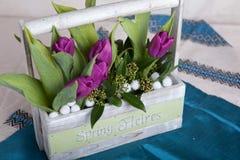 Boeket van tulpen stock foto