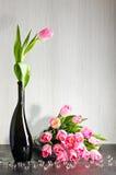 Boeket van tulpenstilleven Stock Foto