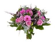 Boeket van verschillende purpere en roze bloemen royalty-vrije stock fotografie