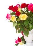 Boeket van verse multicolored rozen Stock Afbeelding