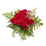 Boeket van verse rode rozen Stock Foto