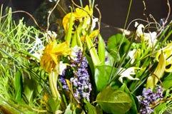 Boeket van verwelkte bloemen Stock Afbeeldingen