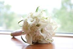 Boeket van witte bloemen Royalty-vrije Stock Foto's