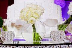 Boeket van witte bloemen Stock Afbeelding