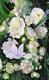 Boeket van witte rozen Royalty-vrije Stock Foto's