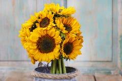 Boeket van zonnebloemen Stock Afbeelding