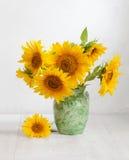 Boeket van zonnebloemen stock afbeeldingen