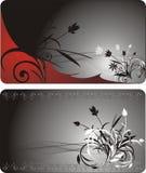 Boeketten. Decoratieve achtergrond voor twee kaarten Stock Fotografie