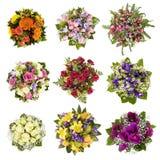 Boeketten van bloemen Stock Foto