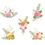 Boeketten van bloemen Royalty-vrije Stock Afbeeldingen