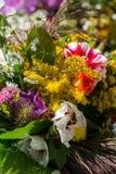 boeketten van bloemen en kruiden Royalty-vrije Stock Afbeelding