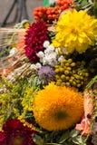 boeketten van bloemen en kruiden Stock Foto's