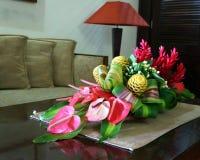Boeketten van exotische bloemen Stock Foto's