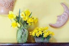 Boeketten van gele narcissen Royalty-vrije Stock Afbeelding