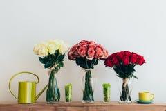 Boeketten van rozen Stock Fotografie