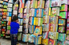 Boekhandel bij de supermarkt Royalty-vrije Stock Foto's