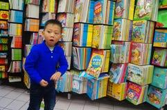 Boekhandel bij de supermarkt Stock Foto