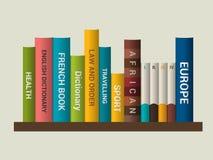 Boekhandel binnen Vector illustratie Stock Foto