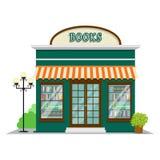 Boekhandel Boekhandel in het vlakke stijlontwerp De winkelbouw pictogram vectorillustratie royalty-vrije illustratie