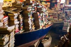 Boekhandel in Venetië stock afbeeldingen