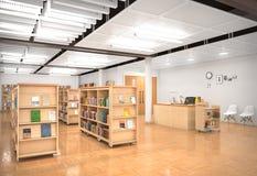 Boekhandelbinnenland 3D Illustratie Royalty-vrije Stock Afbeeldingen