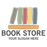 Boekhandelembleem Royalty-vrije Stock Foto's