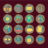 Boekhoudings vector vlakke pictogrammen Royalty-vrije Stock Foto