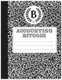 Boekhoudingscryptocurrency - Bitcoin Royalty-vrije Stock Afbeelding