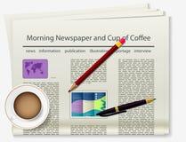 boekje Krant Realistisch beeld van het voorwerp stock illustratie