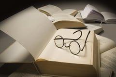 Boeklezing stock afbeeldingen