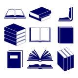 Boekpictogrammen geplaatst vector Royalty-vrije Stock Foto