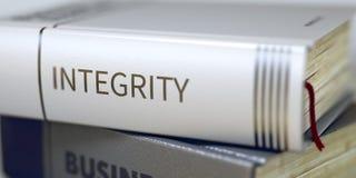 Boektitel van Integriteit 3d royalty-vrije stock foto