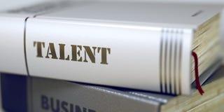 Boektitel van Talent 3d Royalty-vrije Stock Afbeeldingen