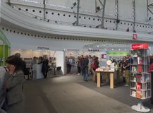 Boekwereld Praag 2017 - 23ste Internationale Boekenbeurs en Literair Festival stock afbeeldingen