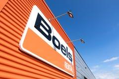 Boels wynajem znak przy sklepem w Leiderdorp, holandie Fotografia Royalty Free